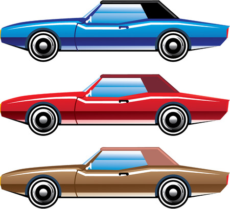 Classic style old vehicle vector clip-art illustration image