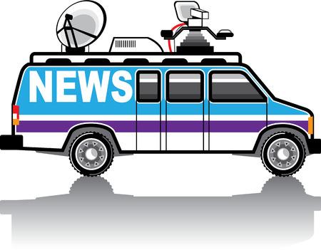 News Van vector illustration clip-art image