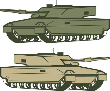 Simple tanks vector illustration clip-art image