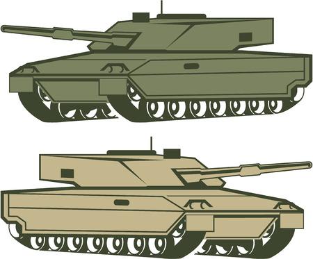 cold war: Simple tanks vector illustration clip-art image