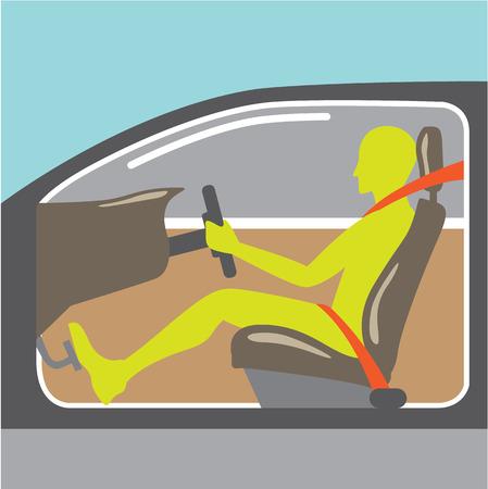 cinturon seguridad: Controlador en el archivo de imagen Clip-arte del ejemplo del cinturón de seguridad del coche
