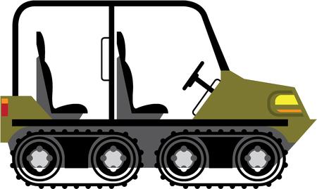 Off Road Vehicle Outdoor Utility Atv vector illustration clip-art Illustration