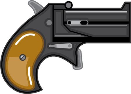 Derringer gun Vector illustration clip-art image file Illustration