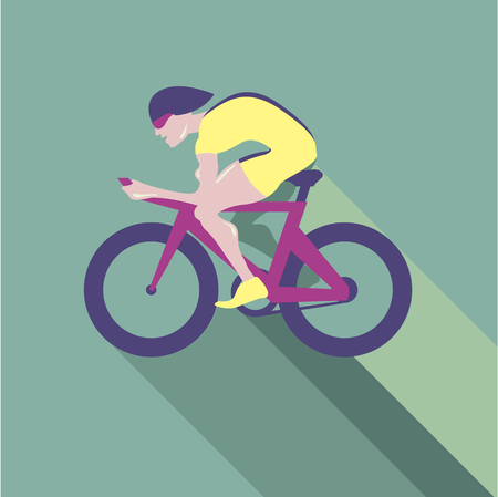 one wheel bike: Cyclist racer Vector illustration clip-art image format Illustration