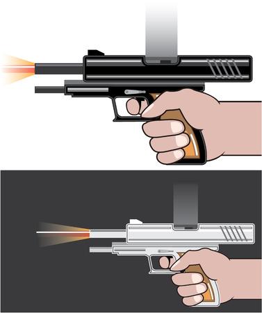 gunfire: Gunfire vector illustration clip-art image