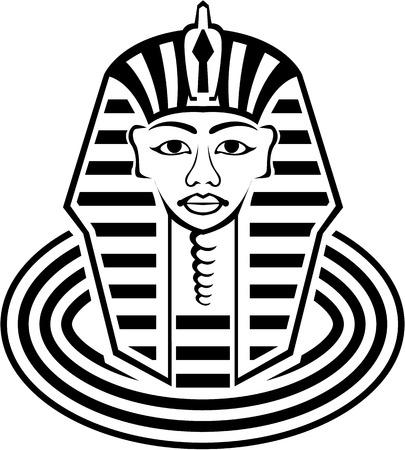 antiquities: Pharaoh vector illustration clip-art image file