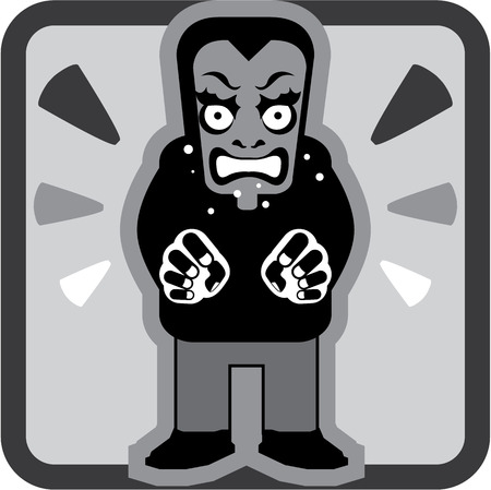 obsessed: Mad man icon vector illustration clip-art image