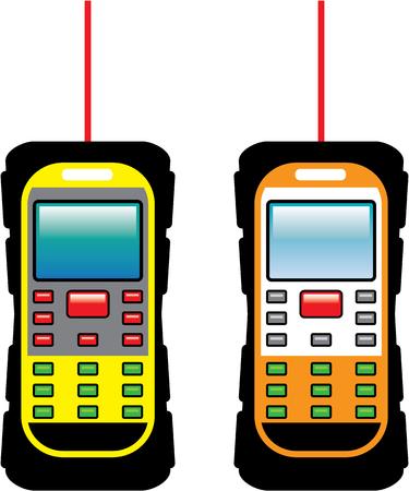 device: Laser measuring device vector illustration clip-art image