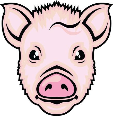 Piglet head vector illustration clip-art image