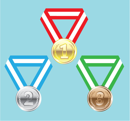 Reward Medals vector illustration clip-art image
