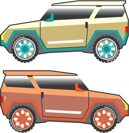 SUV vector edgy illustration clip-art image vector