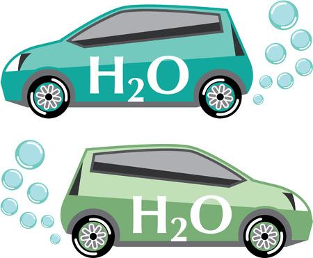 Car that runs on water vector