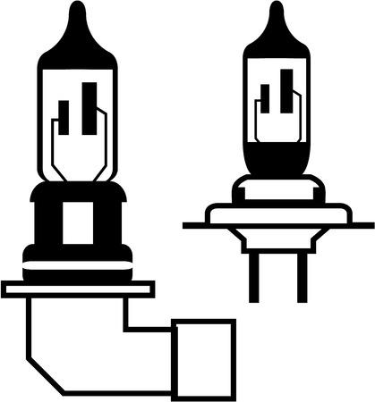 Car lightbulb headlight vector illustration clip-art image