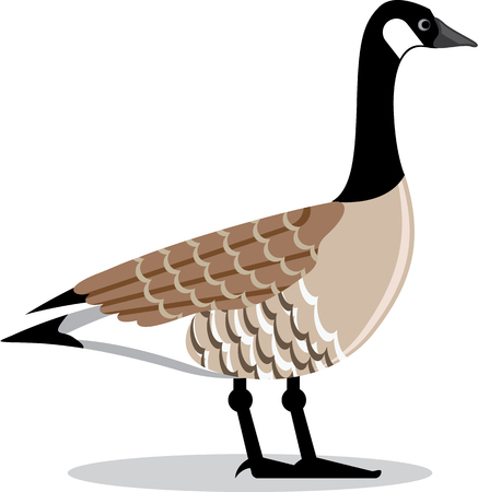 Brown Goose vector Stylized illustration clip-art image