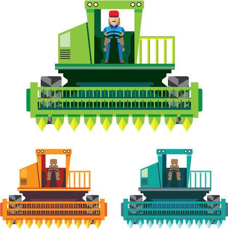 Combine with farmer inside Vector illustration file Illustration