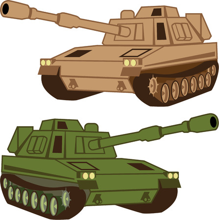 Massive Tank vector illustration clip-art image eps art Illustration