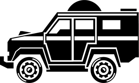 specialty: Specialty Vehicle illustration black and white