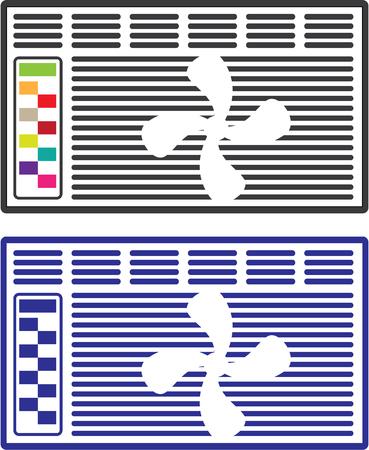 Air Conditioner Vector illustration clip-art image