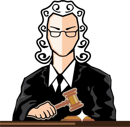 Judge vector persona illustration clip-art image Illustration