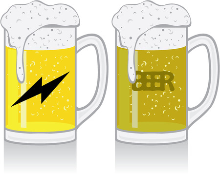 Mug with beer illustration clip-art image vector