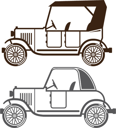 Vintage automobile illustration clip-art image