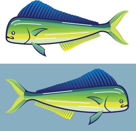 Delphin-Fisch-Illustration Clip-Art Vektor-Kunst Standard-Bild - 68043972
