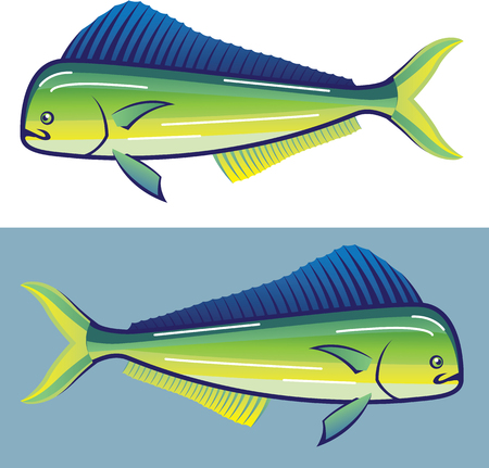 Dolphin Fish illustration clip-art vector art