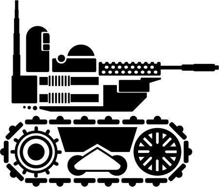 radio unit: Military robot vector image illustration clip-art