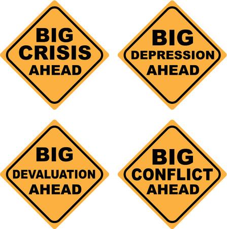 Crisis signs vector clip-art image 向量圖像