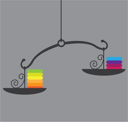 Scale colors vector illustration clip-art work