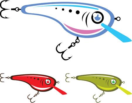 minnow: Plastic fishing lure vector clip-art image Illustration