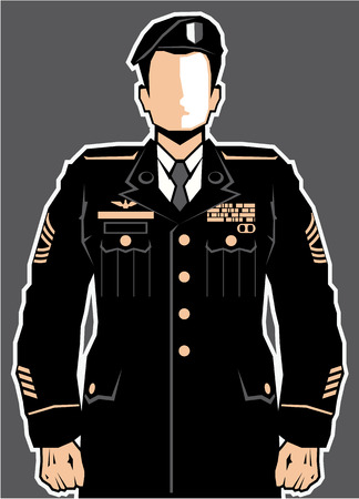 Soldier hero vector illustration clip-art eps