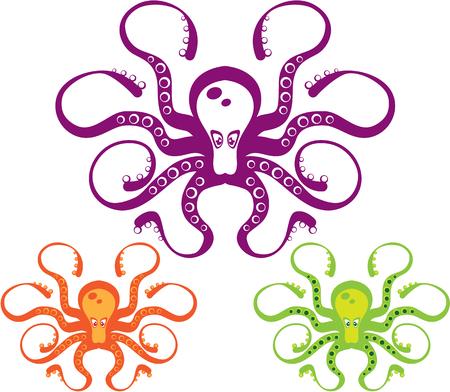 낙지 예술 eps clip-art vecotr 이미지 아이콘