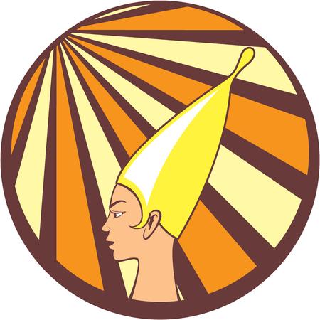 Egyptian princess vector icon clip-art image Illustration