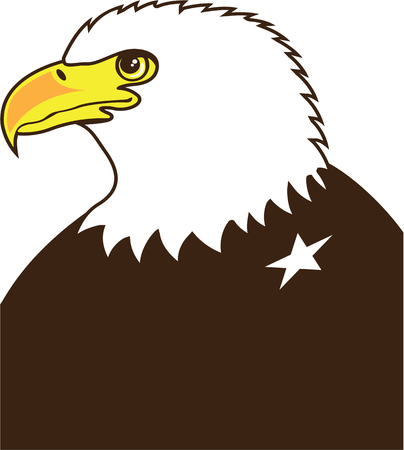 Eagle profile general vector eps illustration