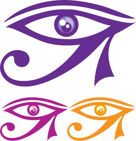 image clip-art oog van Horus vector eps Vector Illustratie
