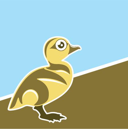 Baby Duck vector art eps file Stock fotó - 68043997