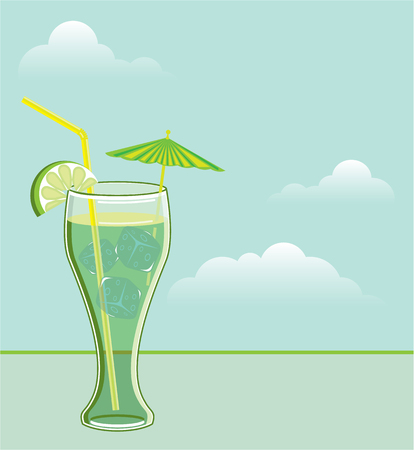 brandy: Cool drink vector illustration clip-art file