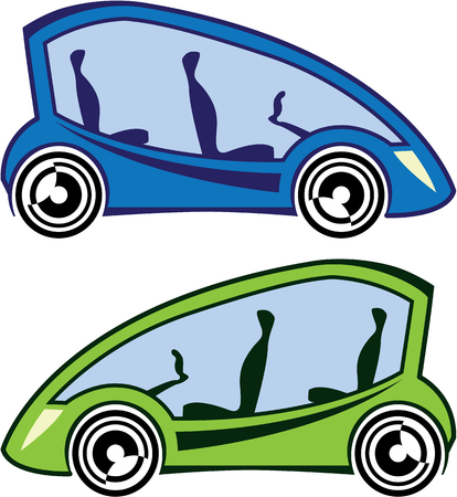 Electric car vector illustration clip-art image