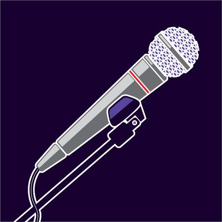 Microphone vector illustration clip-art file