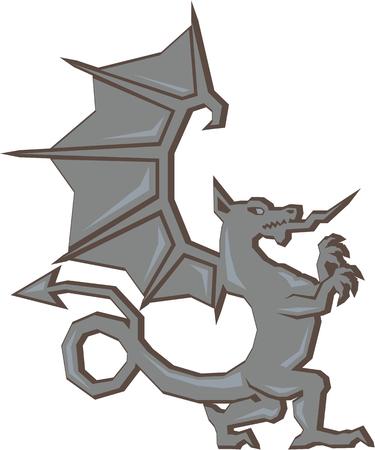 Ancient Dragon vector clip-art file Illustration