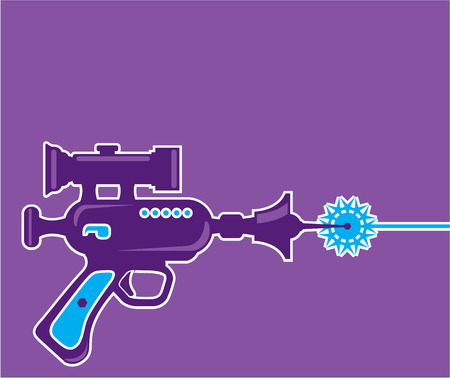 Laser gun vector clip-art illustration