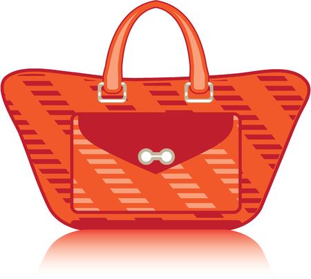 Rood mode tas handtas vector afbeelding Stock Illustratie