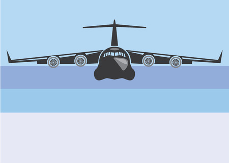 Cargo plane simple vector illustration clip-art