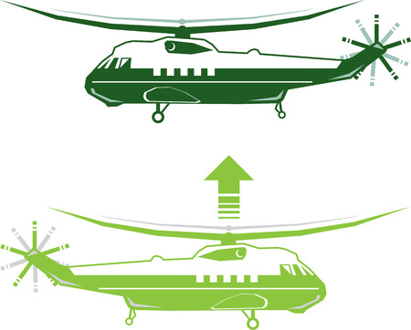 Vip Helicopter vector illustration clip-art