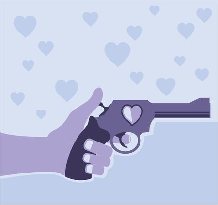 delinquency: Shot of love vector illustration clip-art image
