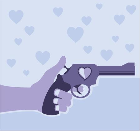 Shot of love vector illustration clip-art image
