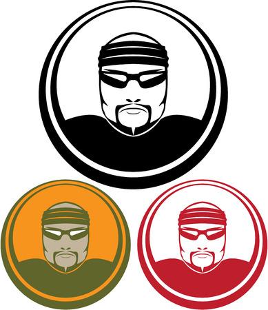Serial Killer vector Icon clip-art image Иллюстрация