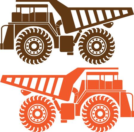 image exra zware vrachtauto machines vector