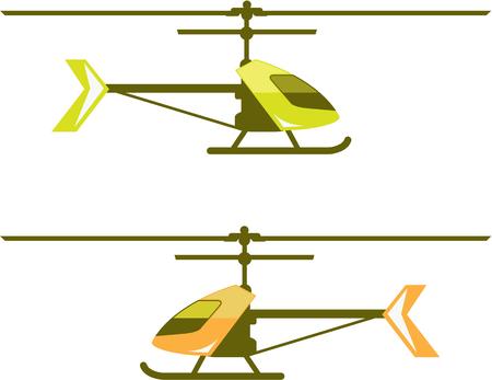 Tiny helicopter vector clip-art image Ilustração